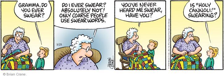 Comic Strip Brian Crane  Pickles 2014-03-25 swear word