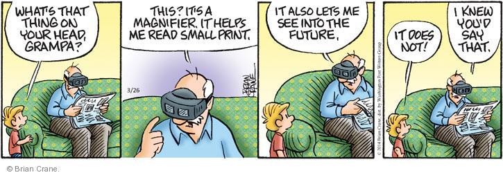Comic Strip Brian Crane  Pickles 2014-03-26 tease