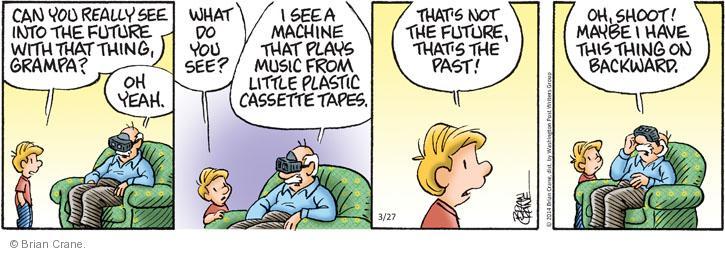 Comic Strip Brian Crane  Pickles 2014-03-27 tape