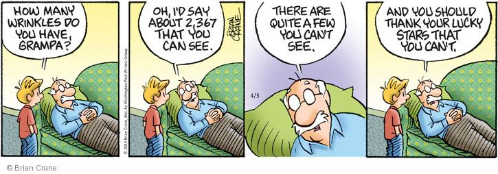 Cartoonist Brian Crane  Pickles 2014-04-03 lucky