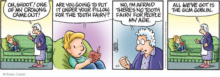 Comic Strip Brian Crane  Pickles 2014-04-04 fairy