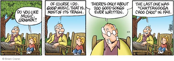 Comic Strip Brian Crane  Pickles 2014-04-05 Andrew