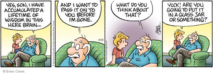 Cartoonist Brian Crane  Pickles 2014-04-10 yuck