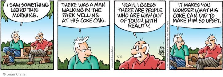 Comic Strip Brian Crane  Pickles 2014-04-12 reality