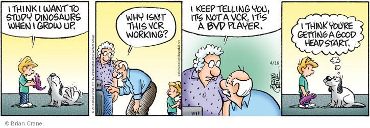 Comic Strip Brian Crane  Pickles 2014-04-16 get old
