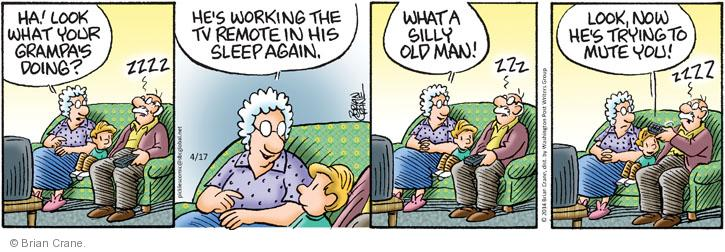 Cartoonist Brian Crane  Pickles 2014-04-17 mute