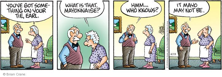 Comic Strip Brian Crane  Pickles 2014-04-19 tie