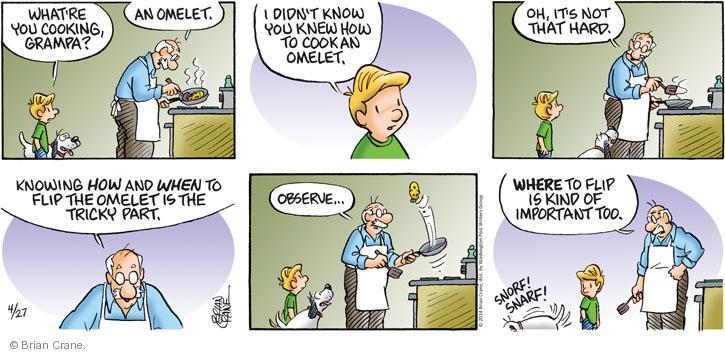 Comic Strip Brian Crane  Pickles 2014-04-27 too