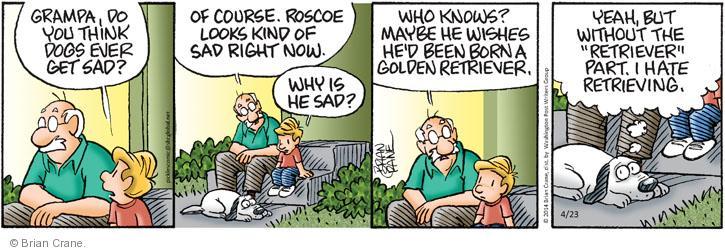 Comic Strip Brian Crane  Pickles 2014-04-23 fetch