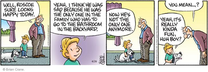 Comic Strip Brian Crane  Pickles 2014-04-26 friendship