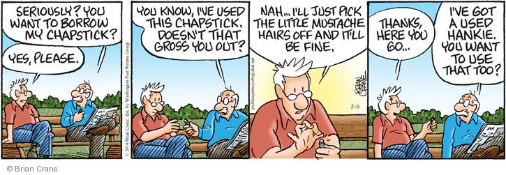Comic Strip Brian Crane  Pickles 2014-05-06 hygiene