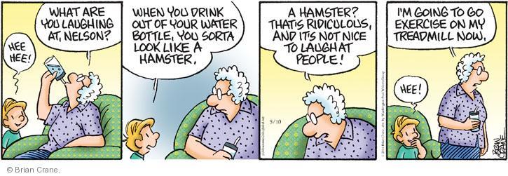 Comic Strip Brian Crane  Pickles 2014-05-10 drink