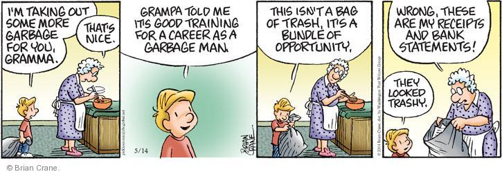 Comic Strip Brian Crane  Pickles 2014-05-14 bank