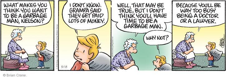 Comic Strip Brian Crane  Pickles 2014-05-15 man