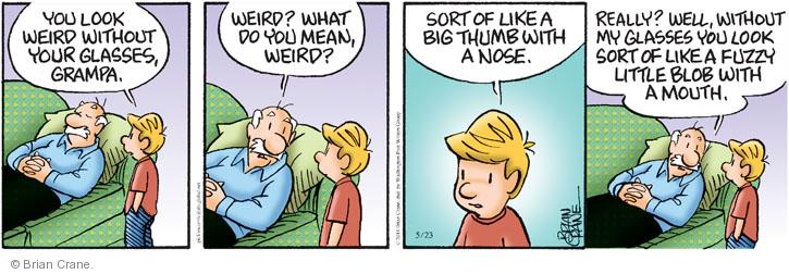 Comic Strip Brian Crane  Pickles 2014-05-23 nose