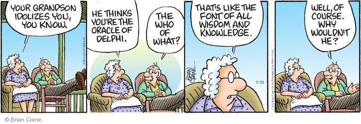 Comic Strip Brian Crane  Pickles 2014-05-24 knowledge