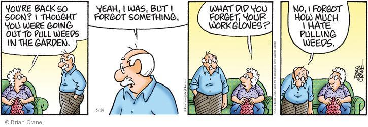 Comic Strip Brian Crane  Pickles 2014-05-28 yard work