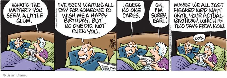 Comic Strip Brian Crane  Pickles 2014-05-29 forgetfulness