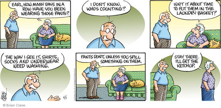 Comic Strip Brian Crane  Pickles 2014-06-01 spill