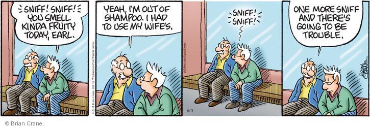 Cartoonist Brian Crane  Pickles 2014-06-03 smell