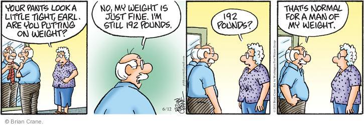 Comic Strip Brian Crane  Pickles 2014-06-12 fat