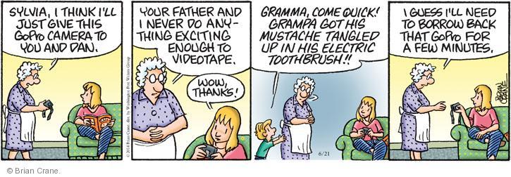 Comic Strip Brian Crane  Pickles 2014-06-21 wow