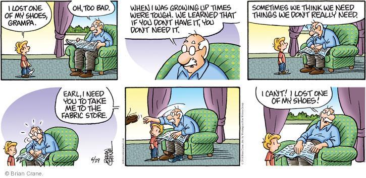 Comic Strip Brian Crane  Pickles 2014-06-29 bad advice