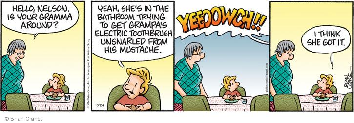 Cartoonist Brian Crane  Pickles 2014-06-24 painful