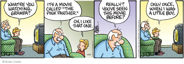 Comic Strip Brian Crane  Pickles 2014-06-26 movie