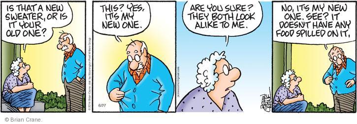 Comic Strip Brian Crane  Pickles 2014-06-27 sweater