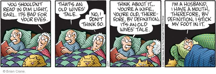 Comic Strip Brian Crane  Pickles 2014-06-30 husband and wife