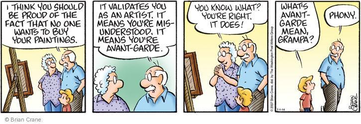 Comic Strip Brian Crane  Pickles 2014-07-01 one