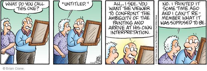 Comic Strip Brian Crane  Pickles 2014-07-02 title