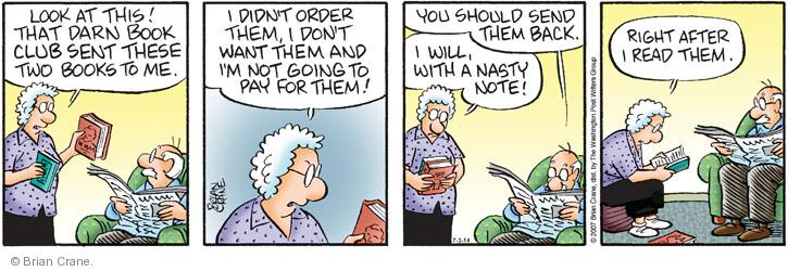 Comic Strip Brian Crane  Pickles 2014-07-03 reading book