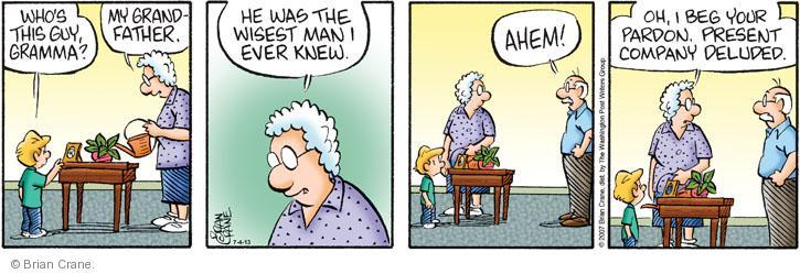 Comic Strip Brian Crane  Pickles 2014-07-04 ahem