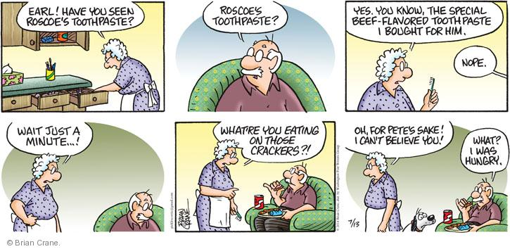 Comic Strip Brian Crane  Pickles 2014-07-13 hungry
