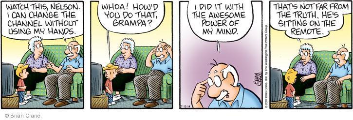 Comic Strip Brian Crane  Pickles 2014-07-12 whoa