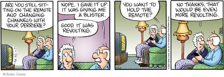 Comic Strip Brian Crane  Pickles 2014-07-16 germ