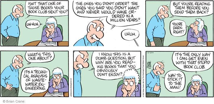Comic Strip Brian Crane  Pickles 2014-07-27 one