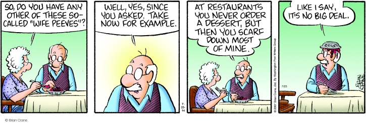 Comic Strip Brian Crane  Pickles 2014-07-23 dessert