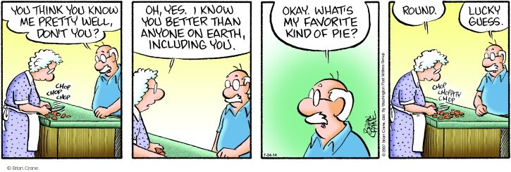 Comic Strip Brian Crane  Pickles 2014-07-24 husband