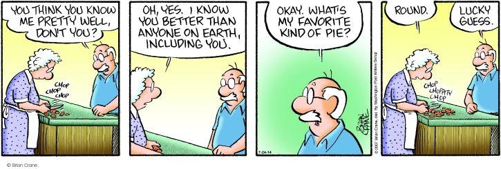 Comic Strip Brian Crane  Pickles 2014-07-24 personality