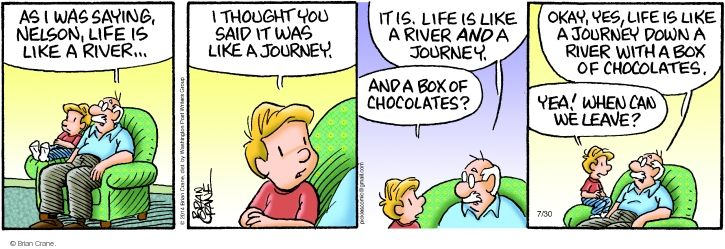 Comic Strip Brian Crane  Pickles 2014-07-30 quote