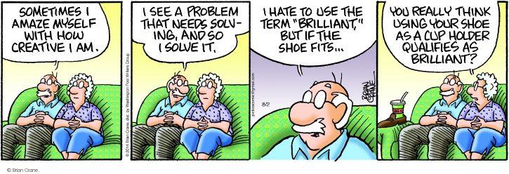 Comic Strip Brian Crane  Pickles 2014-08-02 term