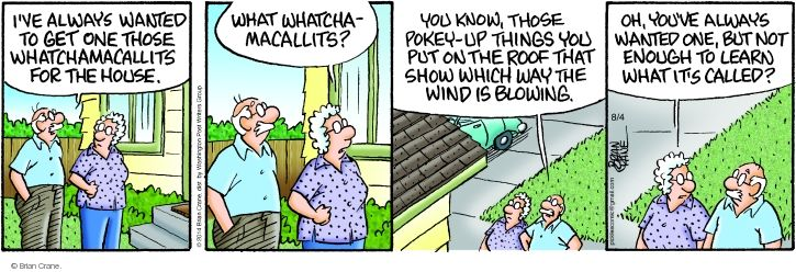 Comic Strip Brian Crane  Pickles 2014-08-04 wind up