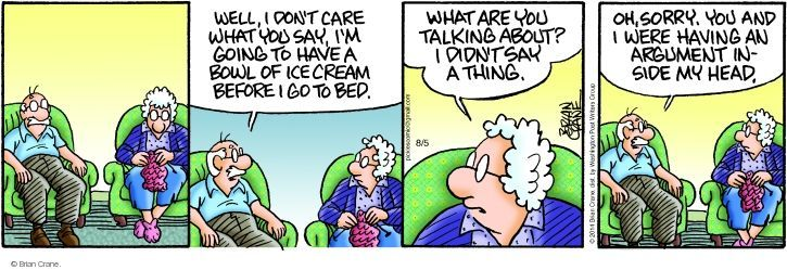 Comic Strip Brian Crane  Pickles 2014-08-05 argument