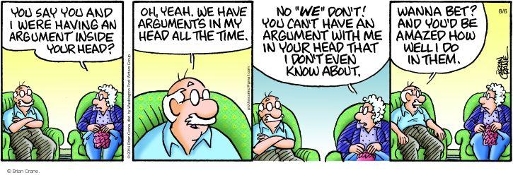 Comic Strip Brian Crane  Pickles 2014-08-06 argument