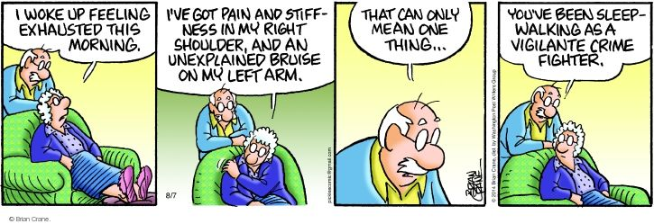 Comic Strip Brian Crane  Pickles 2014-08-07 shoulder