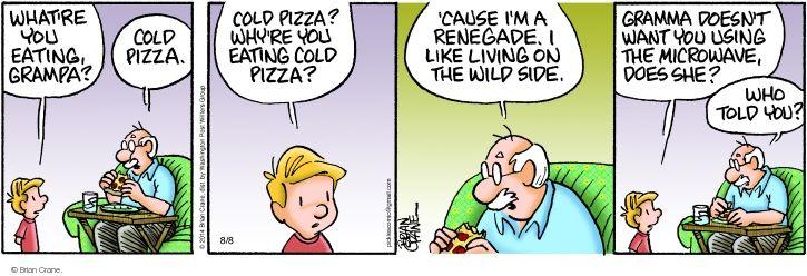 Comic Strip Brian Crane  Pickles 2014-08-08 cause