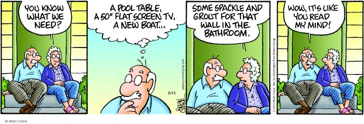 Comic Strip Brian Crane  Pickles 2014-08-15 home repair